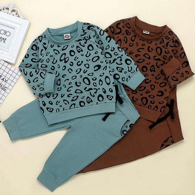 2-piece Leopard Sweatshirt & Pants for Toddler Girl