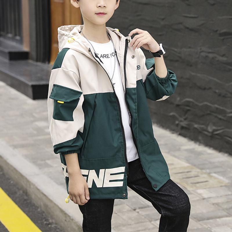Color-block Hooded Jacket for Boy
