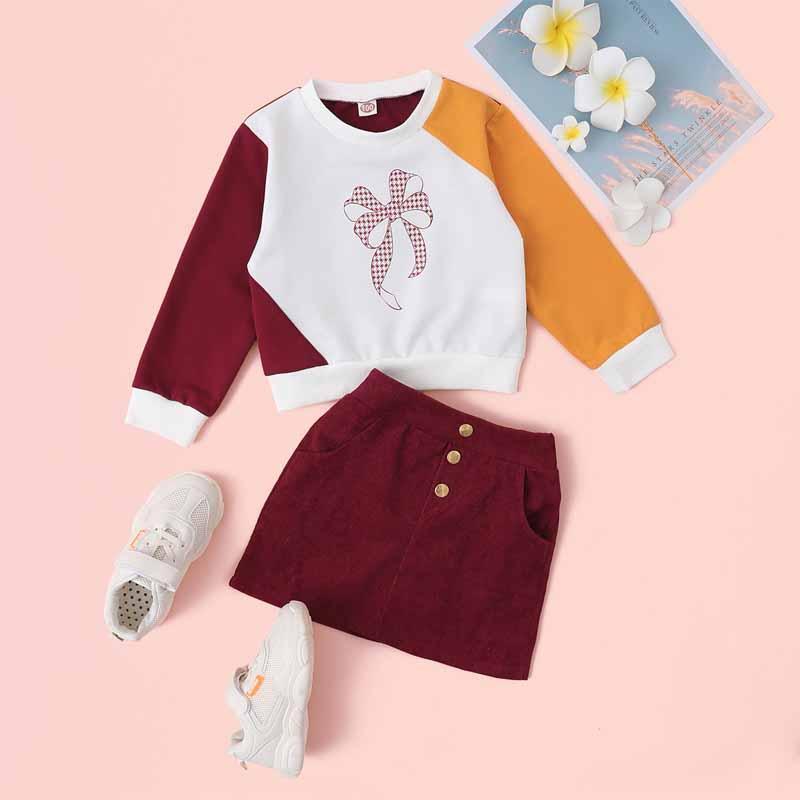2-piece Sweatshirt & Skirt for Toddler Girl