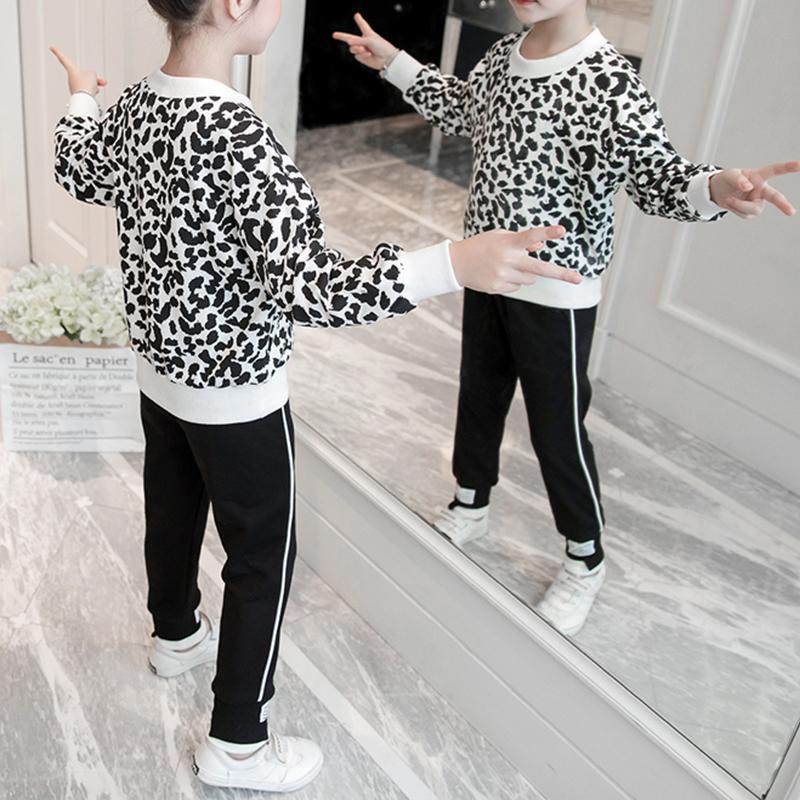 2-piece Leopard Sweatshirt & Pants for Girl