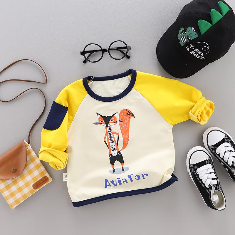 Cartoon Pattern Sweatshirt for Toddler Boy