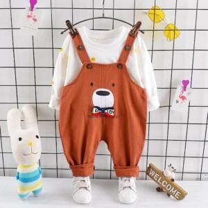 2-piece Sweatshirts & Bear Pattern Pants for Toddler Boy