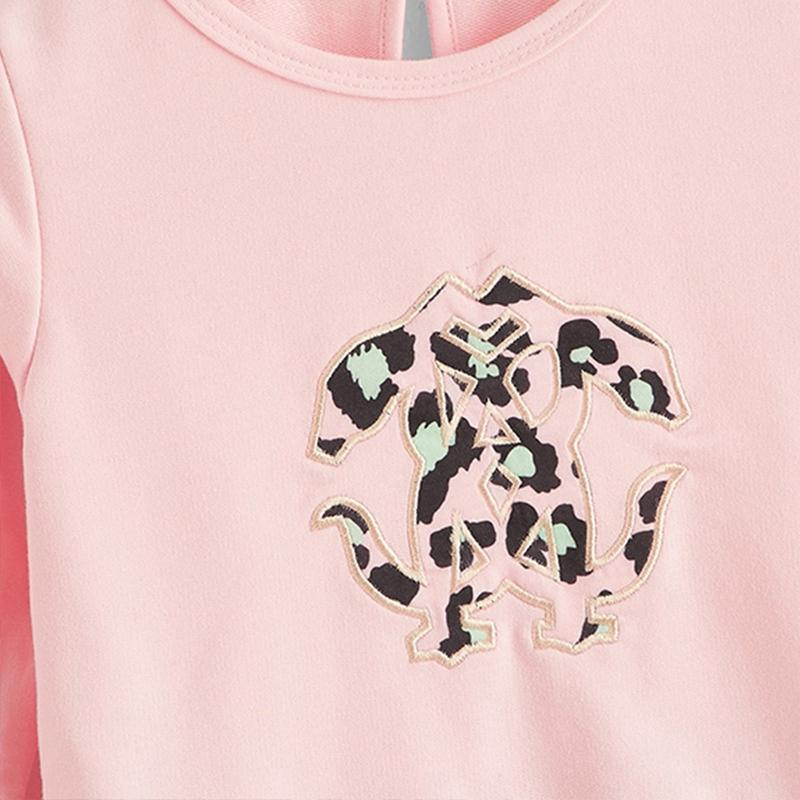 Leopard Print Long-sleeve Dress