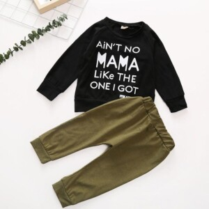 2-piece Long Sleeve T-shirt & Pants for Baby
