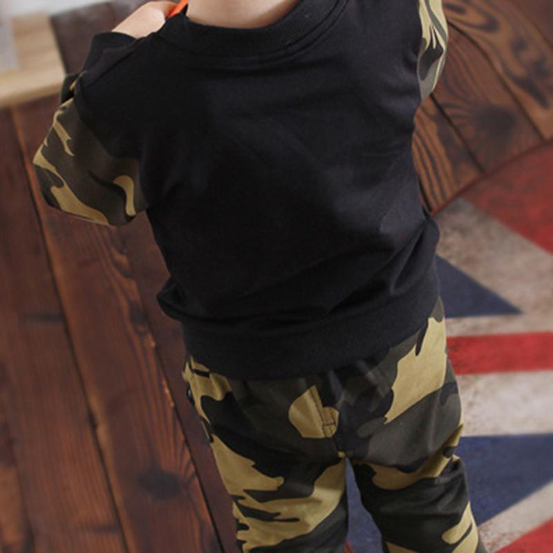 2-piece Camouflage Sweatshirts & Pants for Toddler Boy