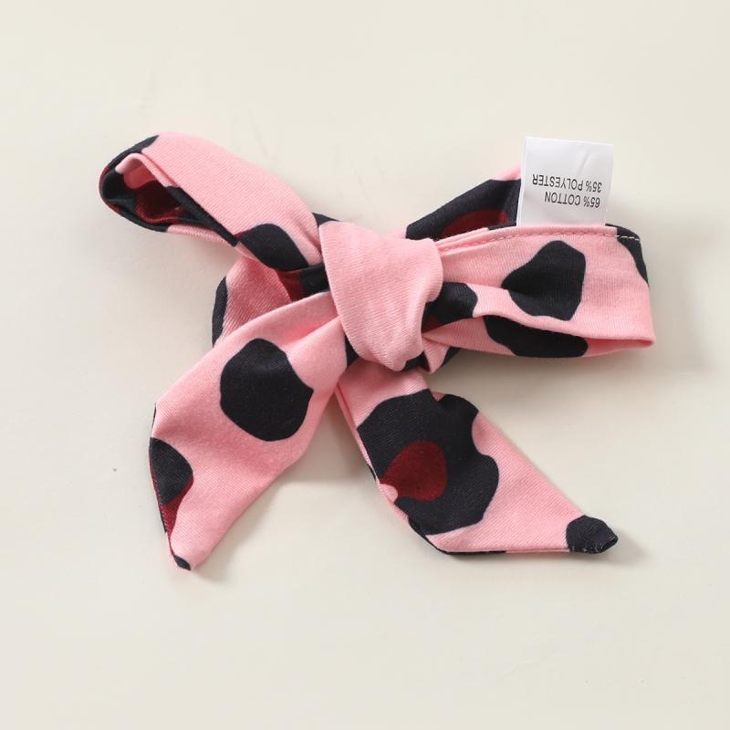 3-piece Ruffle Romper & Headband & Leopard Skirt for Baby Girl