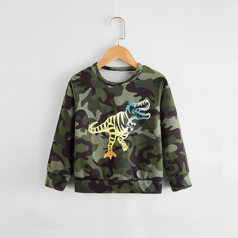 Dinosaur Pattern Camouflage Sweatshirts for Toddler Boy