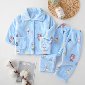 2-piece Extra Thick Flannel Pajamas Sets for Toddler Boy