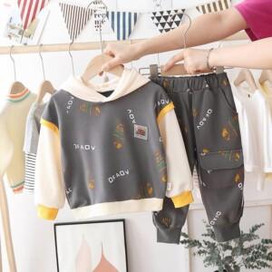 2-piece Fish Pattern Hoodie & Pants for Toddler Boy