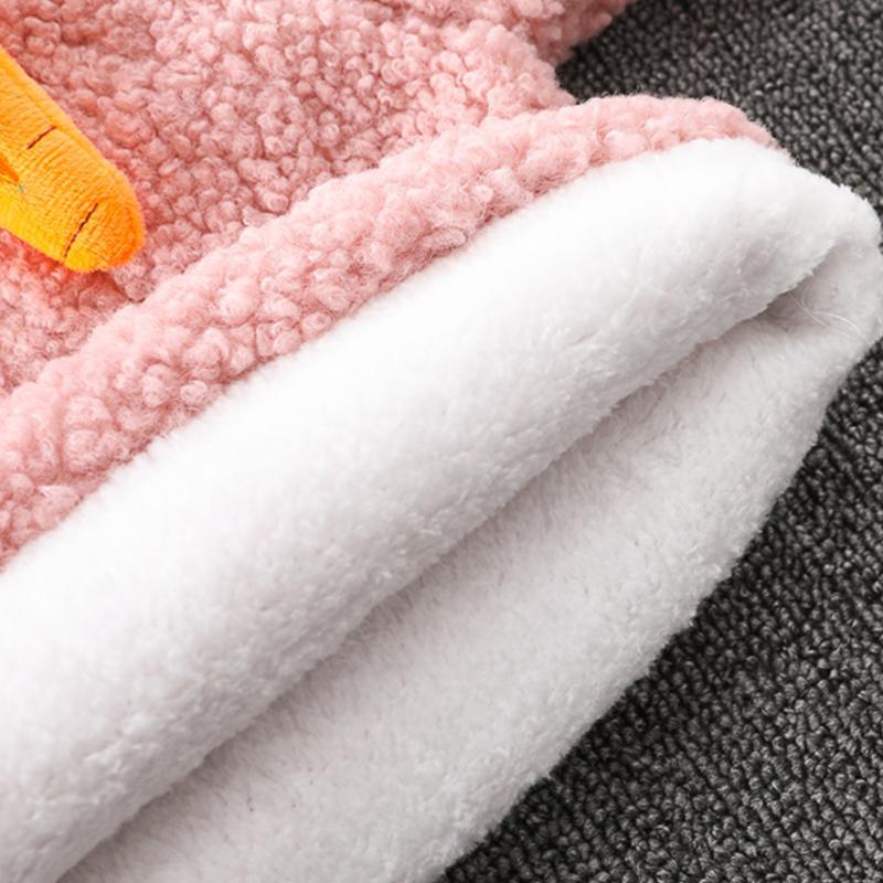 Rabbit Pattern Fleece Coat for Toddler Girl