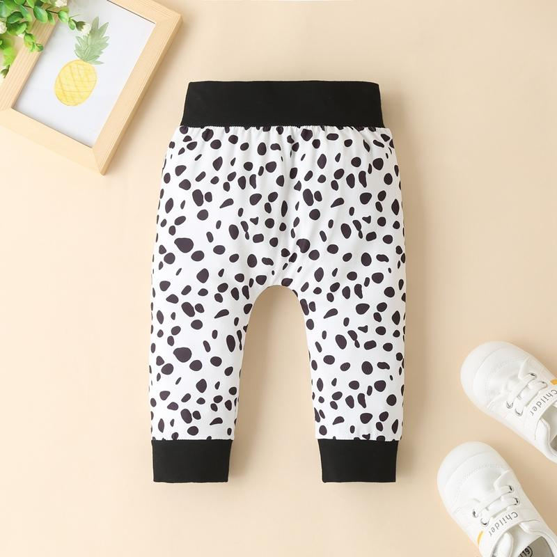 3-piece Romper & Leopard Hat & Leopard Pants for Baby