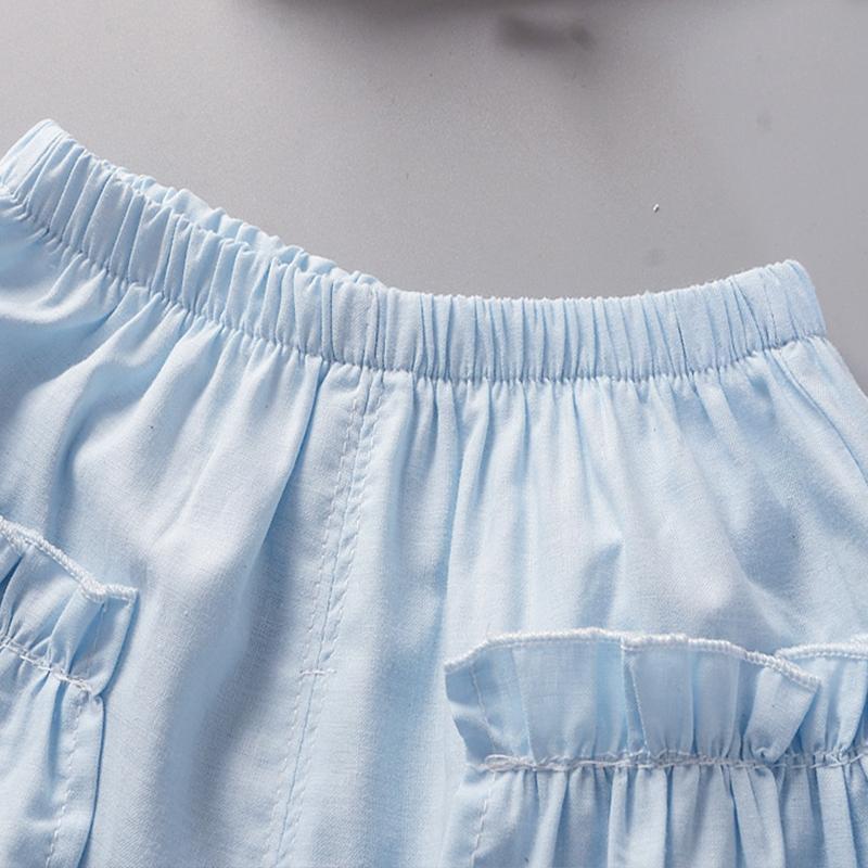 2-piece Ruffle Short Sleeve Shirt & Shorts for Toddler Girl
