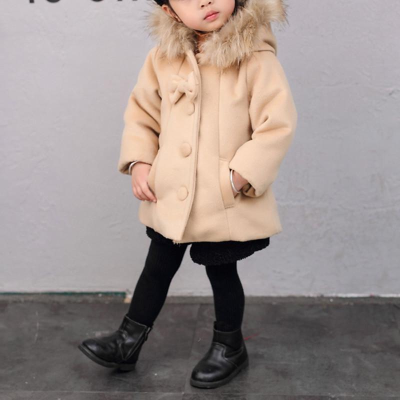 Hooded Duffle Coat for Toddler Girl