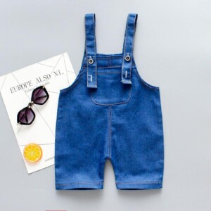 Denim Bib Pants for Toddler Boy