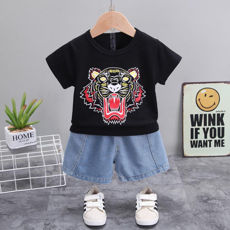 2-piece Tiger Pattern T-shirt & Shorts for Toddler Boy