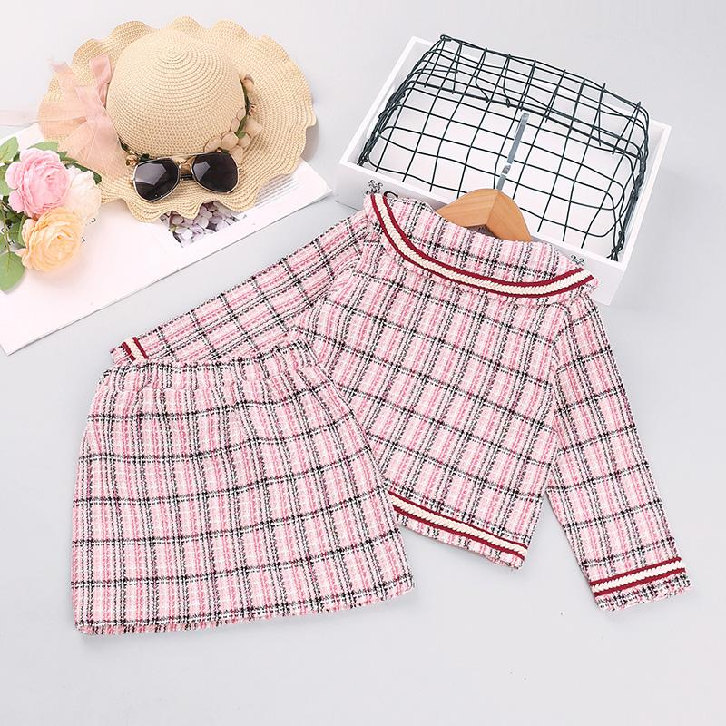 2-piece Chanel Styel Dress Set for Toddler Girl