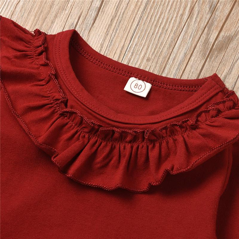 2-piece Ruffle Long Sleeve Shirt & Flared Pants for Toddler Girl