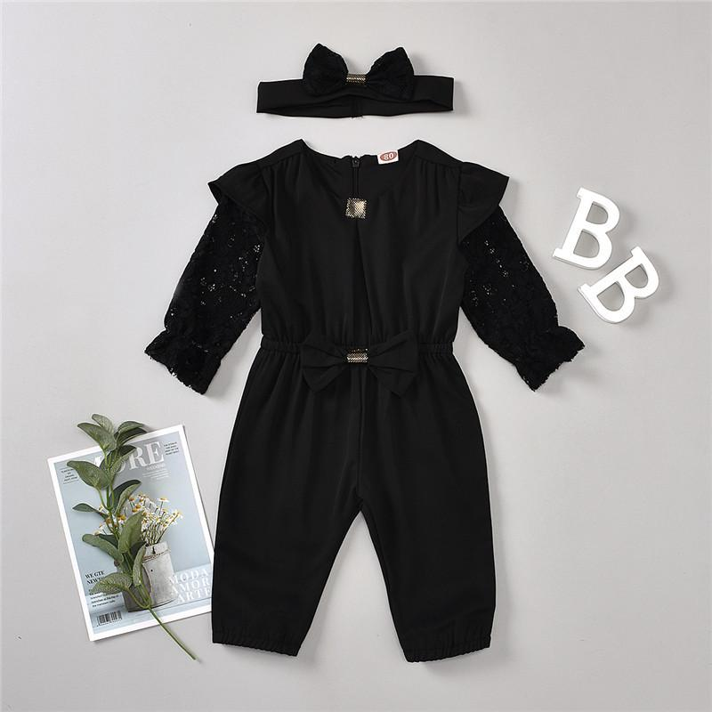 2-piece Overalls & Headband for Toddler Girl