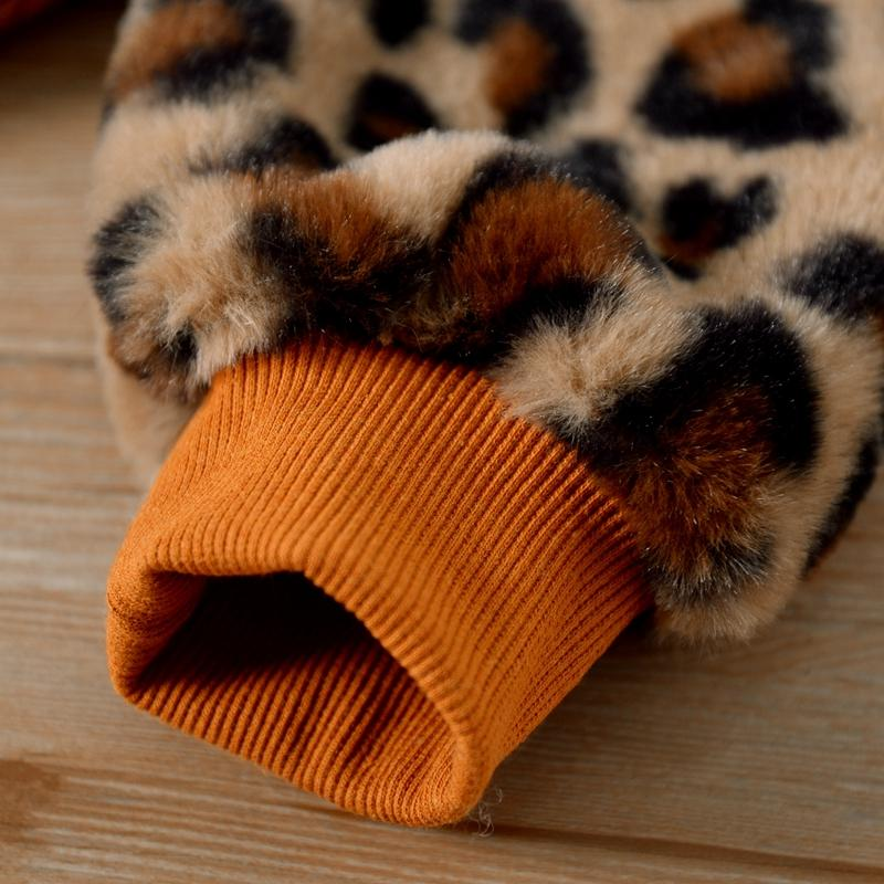 Leopard Plush Sweatshirt for Toddler Girl