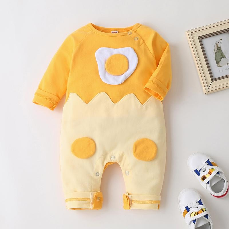 Fried Egg Print Jumpsuit for Baby