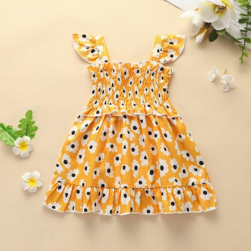 Tropical Print Dress for Baby Girl
