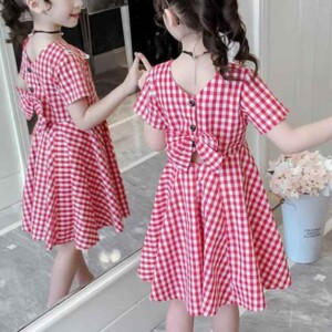 Sweet Plaid Dress for Girls