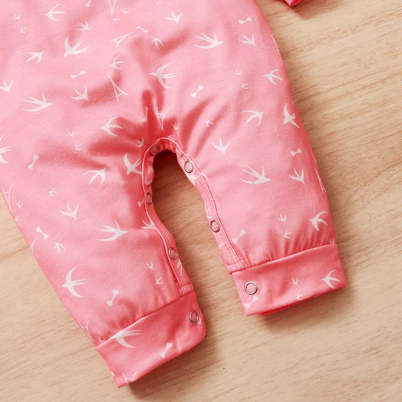 Pink Print Jumpsuit for Baby Girl