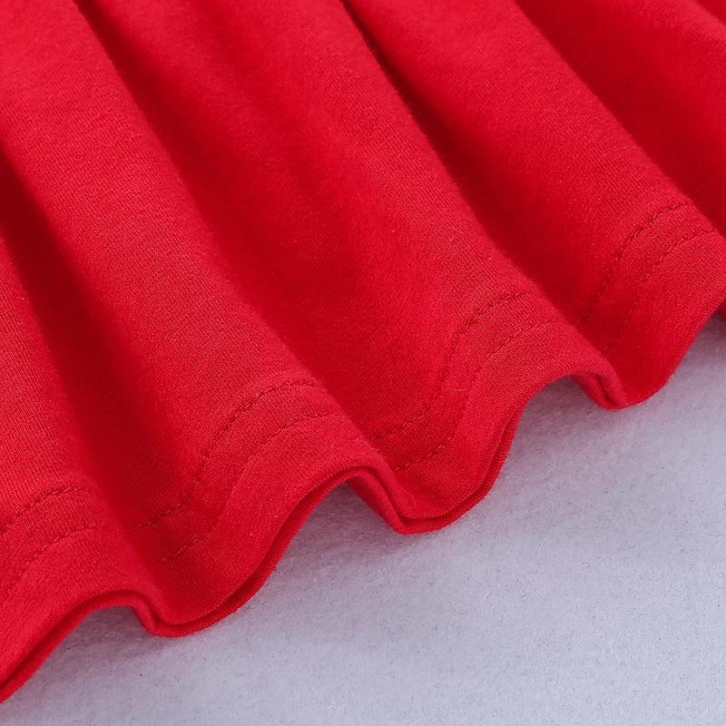 2-piece Ruffle Crimson Long Sleeve T-shirt & Pants for Toddler Girl