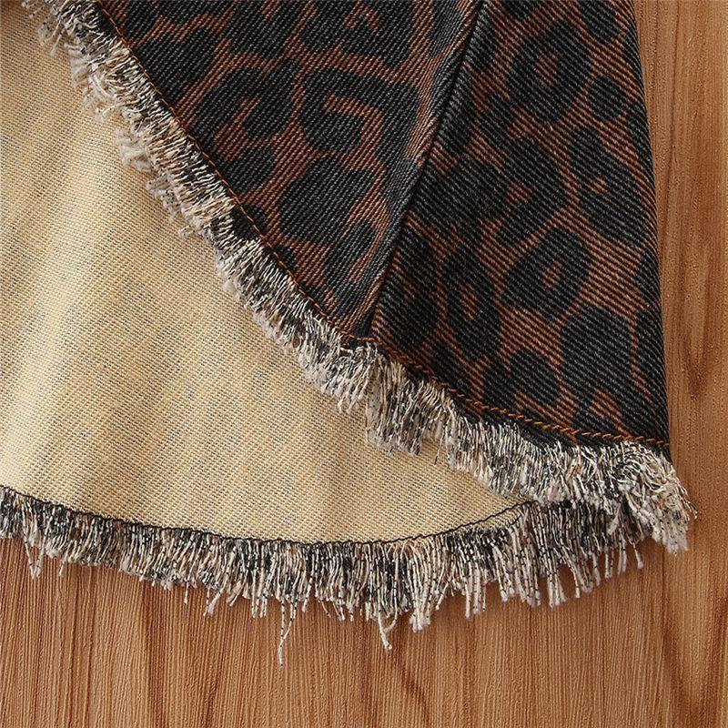 Leopard Denim Flared Pants for Toddler Girl
