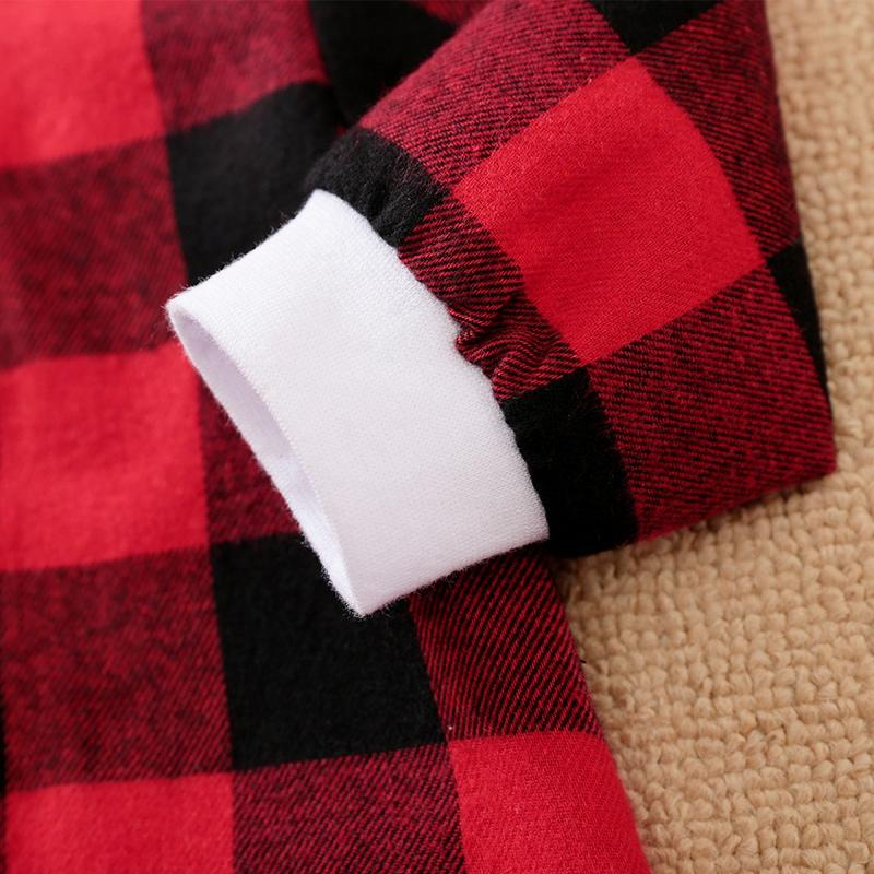 Plaid Hooded Jumpsuit for Baby Boy