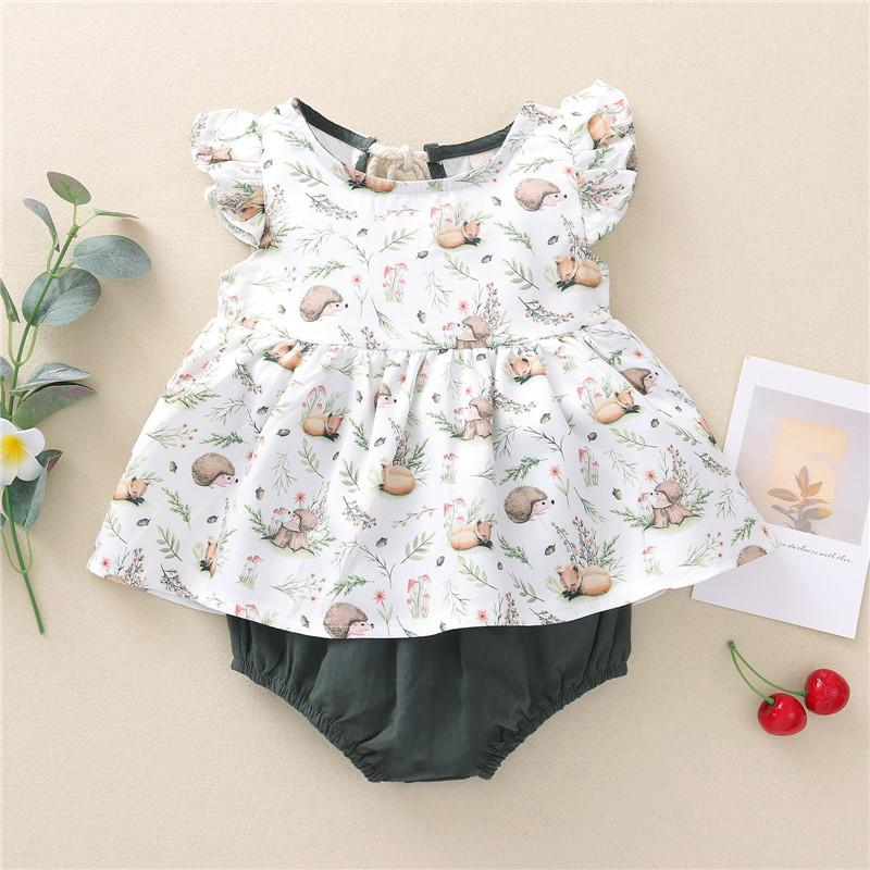 2-piece Ruffle Suit for Baby Girl