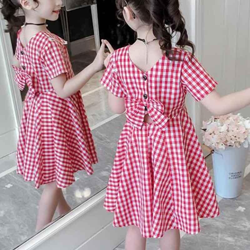 Sweet Plaid Dress for Girls