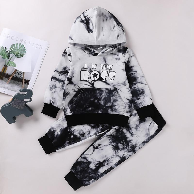 2-piece Tie Dye Hoodie & Pants for Toddler Boy