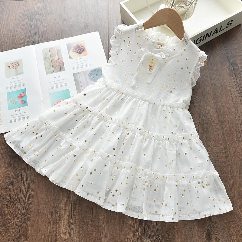 Star Printing Dress for Toddler Girl