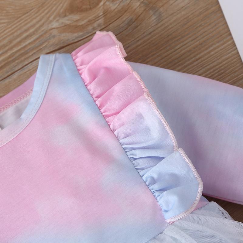2-piece Tie Dye Romper & Headband for Baby Girl