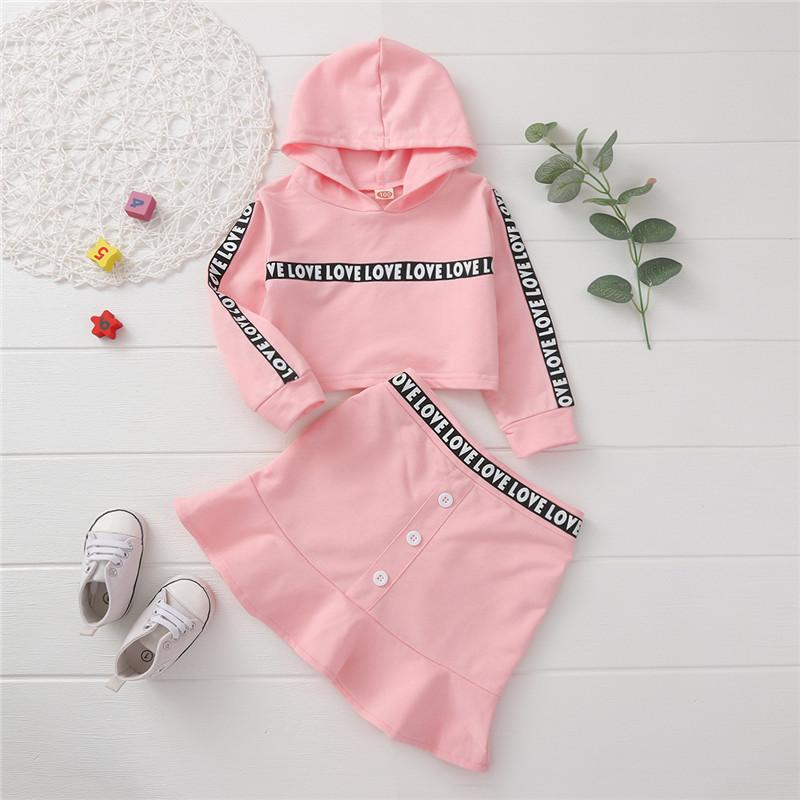 2-piece Hoodie & Skirt for Toddler Girl