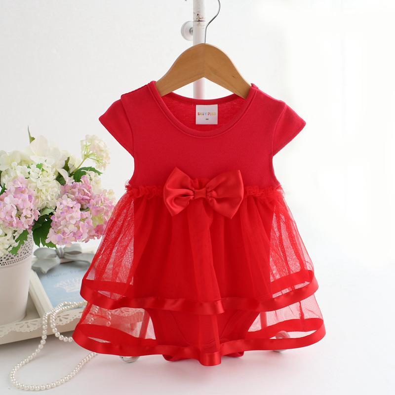Bowknot Bodysuit for Baby Girl