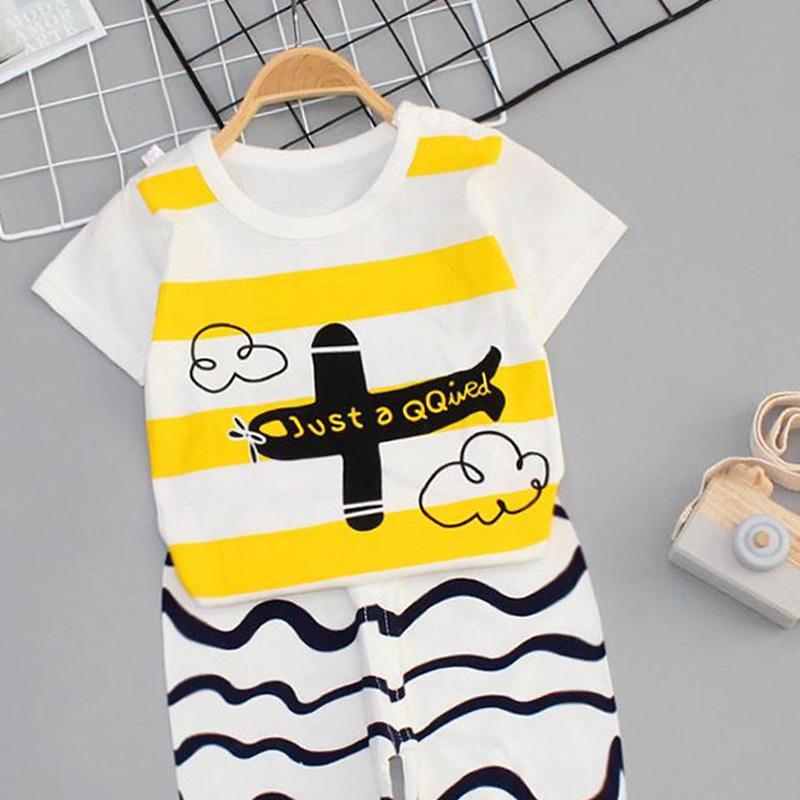 2-piece Thin Pajamas Sets for Toddler Boy