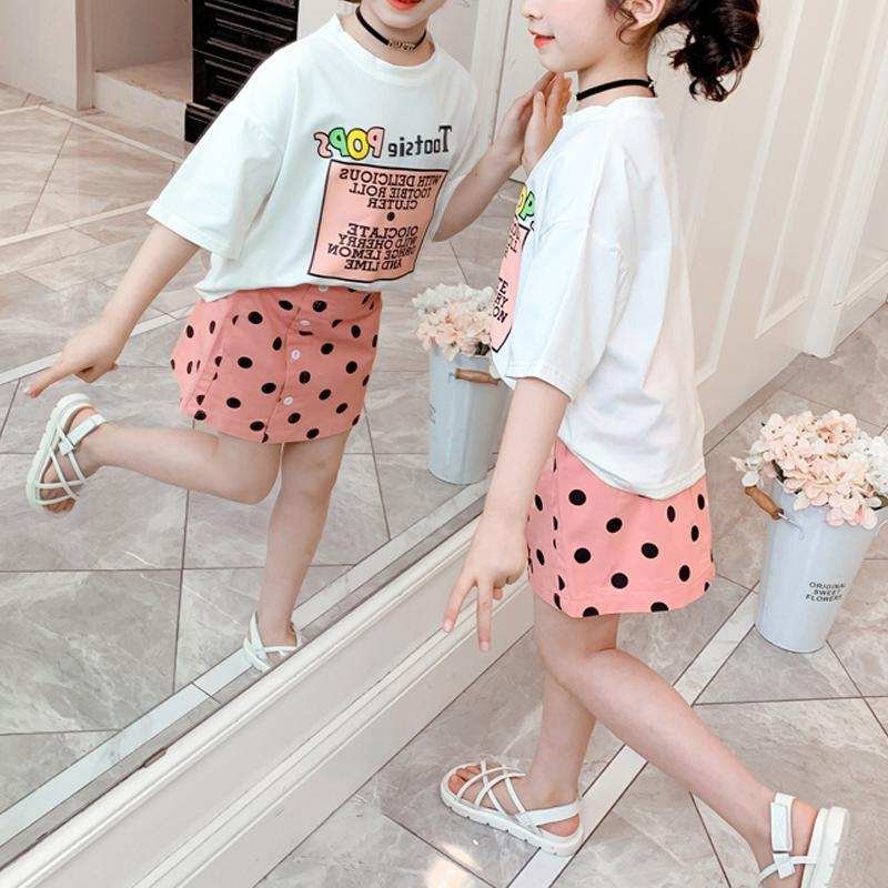 2-piece T-shirt & Polka Dot Skirt for Girl