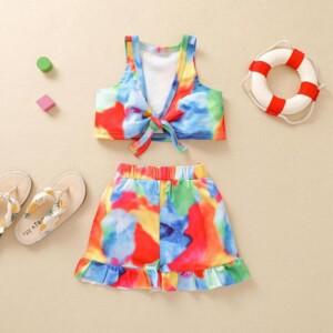 2-piece Tie Dye Swimsuit for Baby Girl