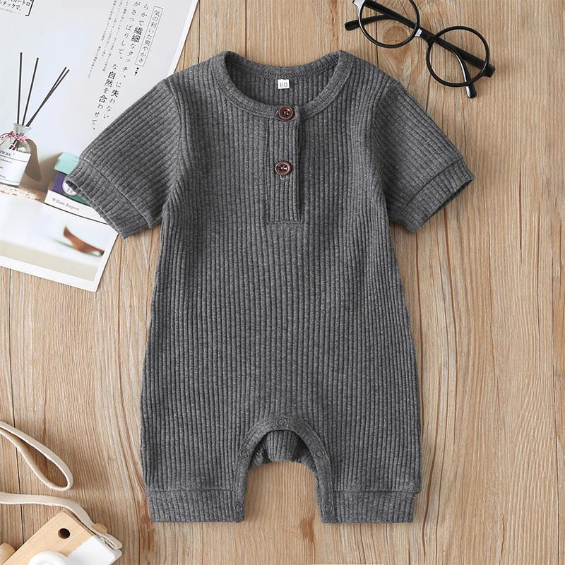 Solid Short Sleeve Jumpsuit for Baby
