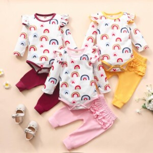 2-piece Ruffle Romper & Pants for Baby Girl