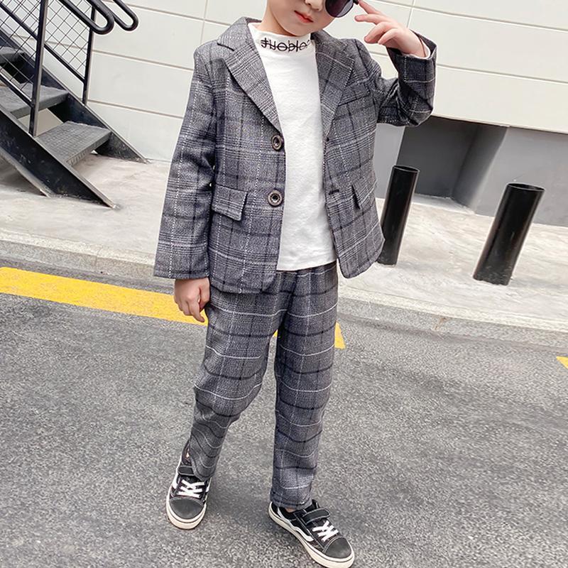 2-piece Plaid Suit for Boy