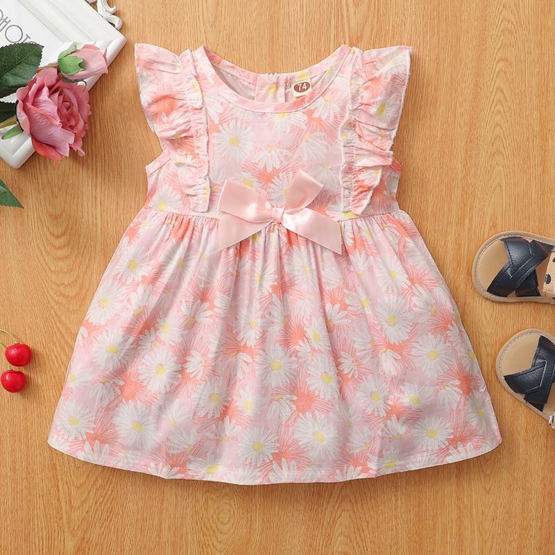 Ruffle Sleeveless Dress for Baby Girl