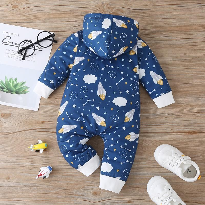 Rocket Print Jumpsuit for Baby