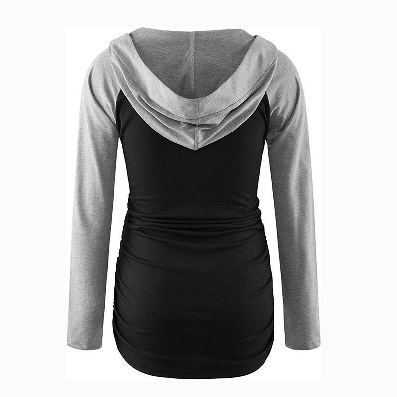 Pregnant Mom Long-sleeve Hooded T-shirt