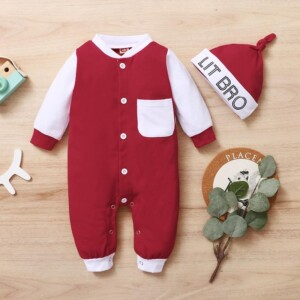 2-piece Romper & Hat for Baby Boy