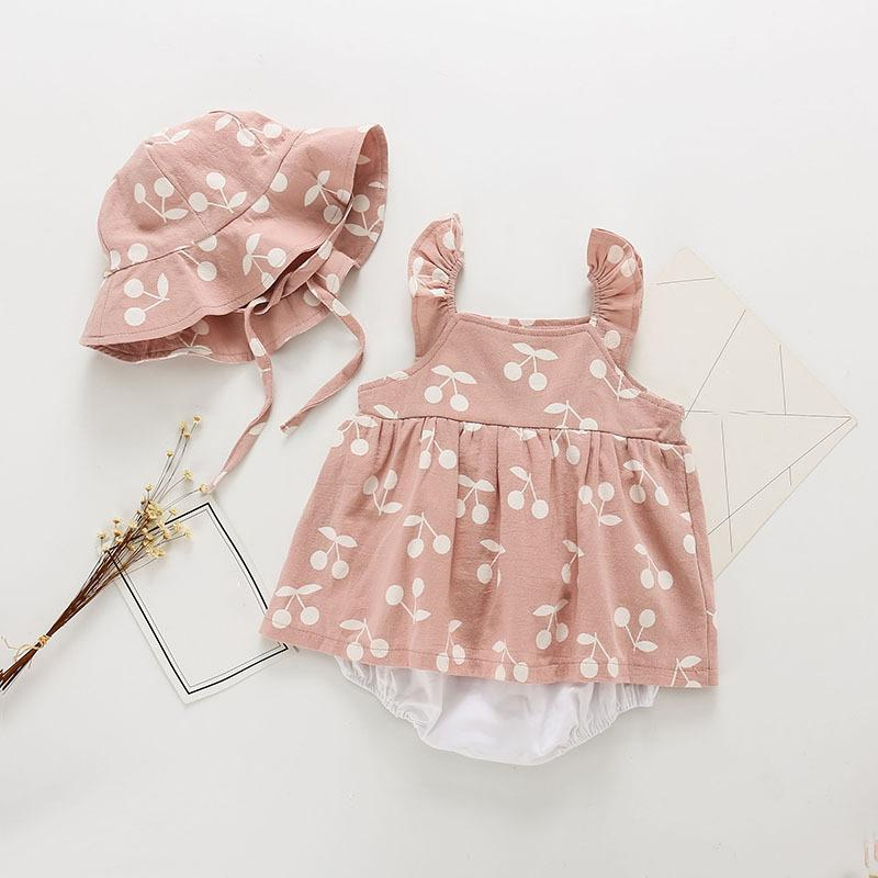 2-piece Romper & Hat for Baby Girl