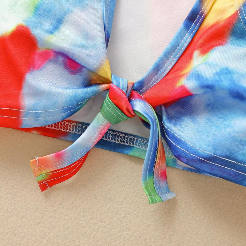 2-piece Tie Dye Swimsuit for Baby Girl