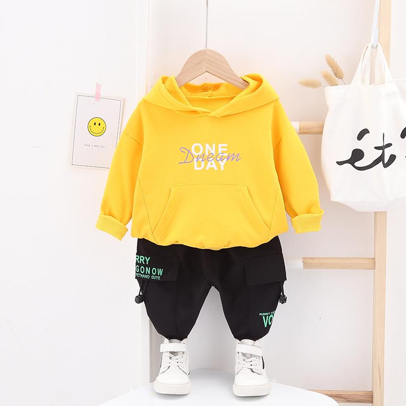 2-piece Letter Hoodie & Pants for Toddler Boy